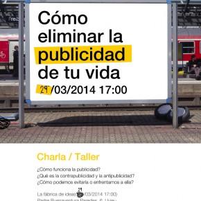 TALLER COMO ELIMINAR LA PUBLICIDAD DE TU VIDA SABADO 29 DE MARZO