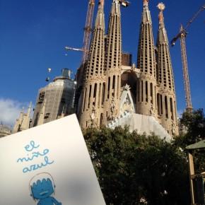 El niño azul en Barcelona