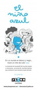 cartel neno azul