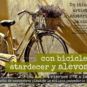 con bicicleta, atardecer y alevosía... en avilés!