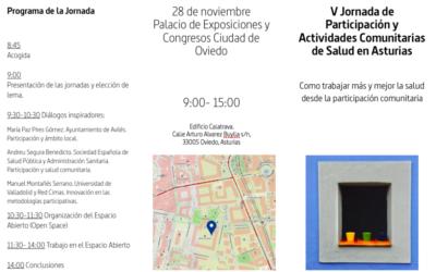 V Jornadas de Participación y Actividades Comunitarias de Salud en Asturias